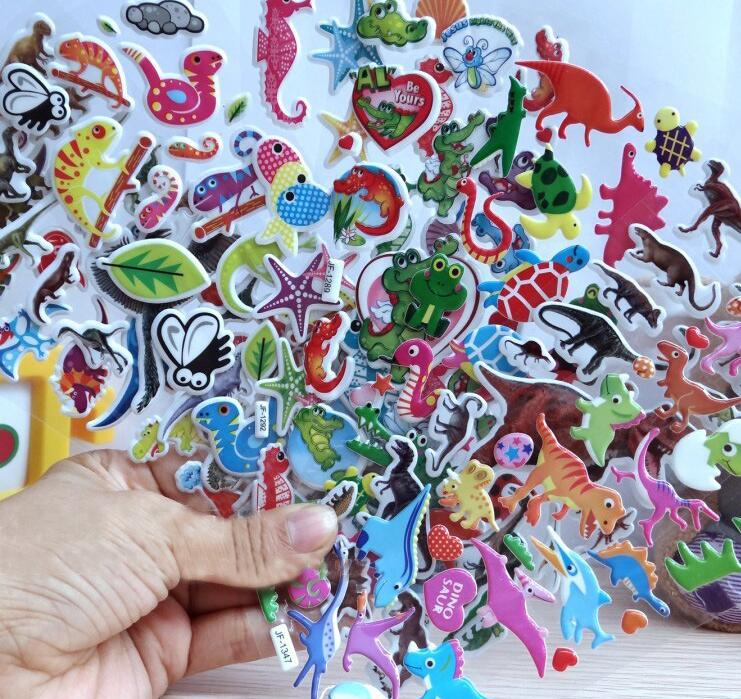 50pcs / lot niños pegatinas juguetes clásicos patrones mixtos para - Juguetes clásicos - foto 1