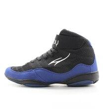 MAULTBY 1,0 скорость Мужские боксерские Фитнес Тренировочные ботинки черный/синий борцовка обувь