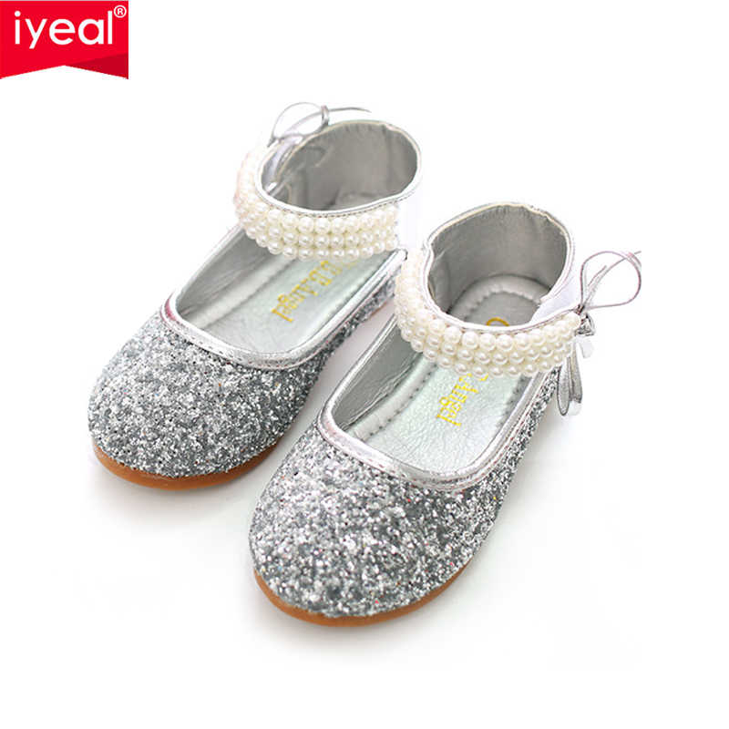 IYEAL Children Baby Toddler Girl Red Silver Glitter Party Ballet Flats Kids  Infant Sequins Glittering Show 6ab7006625e1