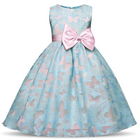 2015 Summer New Elsa Anna Dress Princess Baby Girls Clothes Children Clothing Cosplay Party Kids Dresses