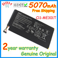 Genuine original 5070mah new C11-ME301T battery pack for asus MeMo Pad Smart 10.1 K001 110-0329H battery batteria AKKU