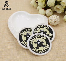 Customized round rubber labels for shoes custom PVC material label design fashion logo