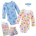 5 piezas de bebé monos del bebé danrol triángulo de manga larga niños niñas clothing monos recién nacidos de algodón 3-24 m v20