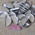100Pcs Empty Semicircle Tins Makeup Eyeshadow Half Round Aluminum Pans for Press your Own Powder Pigment 26mm DIY makeup tool