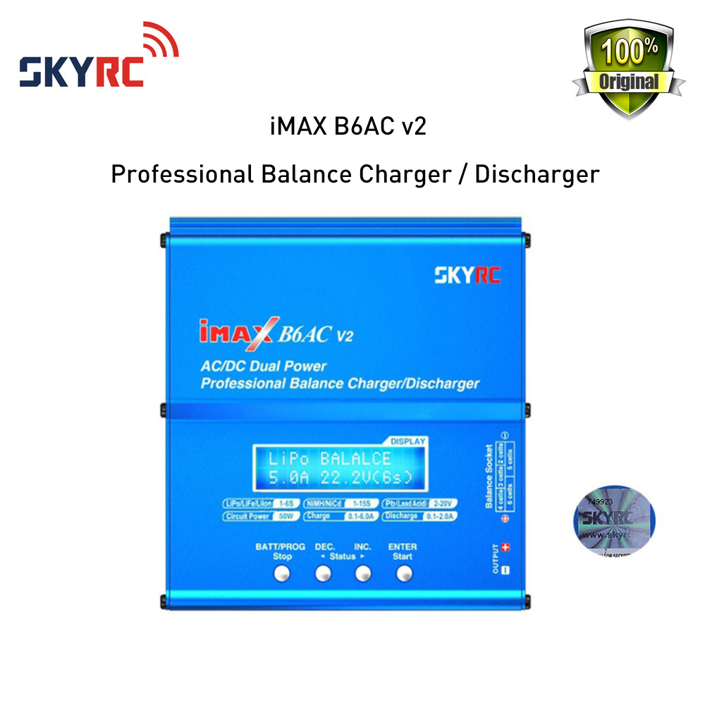 Фотография Skyrc iMAX B6AC V2 Balance Charger/Discharger Battery RC Racing Drone original B6 AC