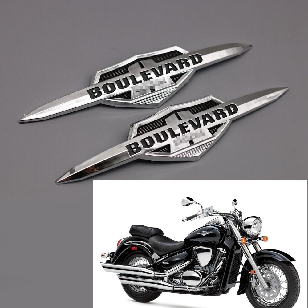 motocicleta chrome abs tanque de gas emblema emblema decalques apto para suzuki boulevard c50 m50 m90