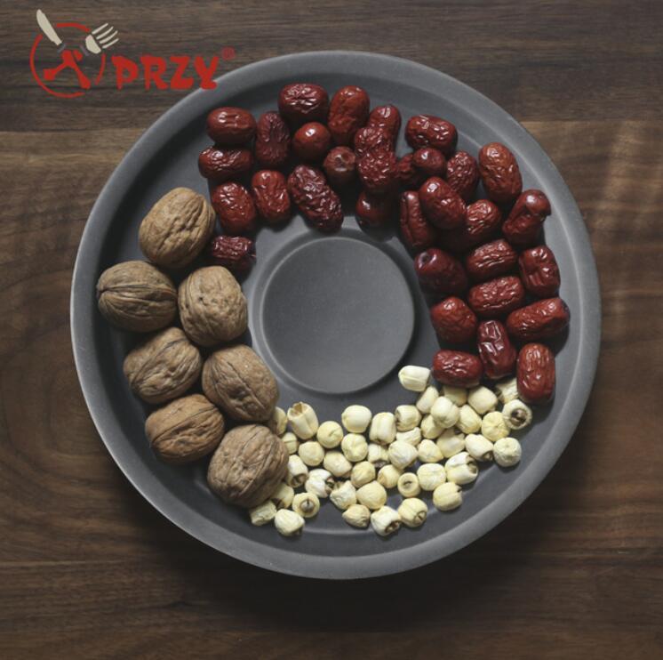 SN0036 moule à vaisselle en gel de silice moules en silicone ronde plaque de ciment tasse plaques de fruits eau plat en béton moule en résine fait main