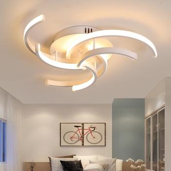 LICAN Modern LED Ceiling Chandelier Lighting led for Living Bedroom room home decor White Lustre Avize Chandeliers