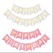 Nhiều Chủ Đề Happy Banner Sinh Nhật Cho Bé Trang Trí Tiệc sinh nhật Chụp hình Sinh Nhật Vui Vẻ Bunting Vòng Hoa Lá Cờ