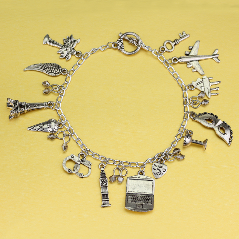 Dropshipping Fifty Shades of Grey Handcuffs Hand catenary charm Bracelet