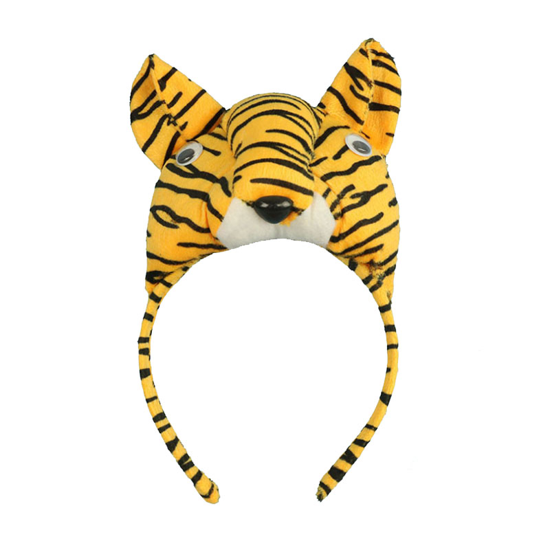 New Boy Man Tiger Ear Headband Head wear Animal Cosplay Party Favors Christmas Hair Accessories