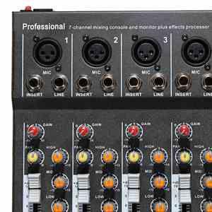 Image 3 - LEORY 7 ערוץ דיגיטלי מיקרופון קול מיקסר קונסולת 48V פנטום כוח מקצועי קריוקי אודיו מיקסר מגבר עם USB