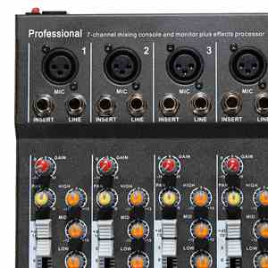 Image 3 - LEORY 7 Channel Digital Microphone Sound Mixer Console 48V Phantom Power Professional Karaoke Audio Mixer Amplifier With USB