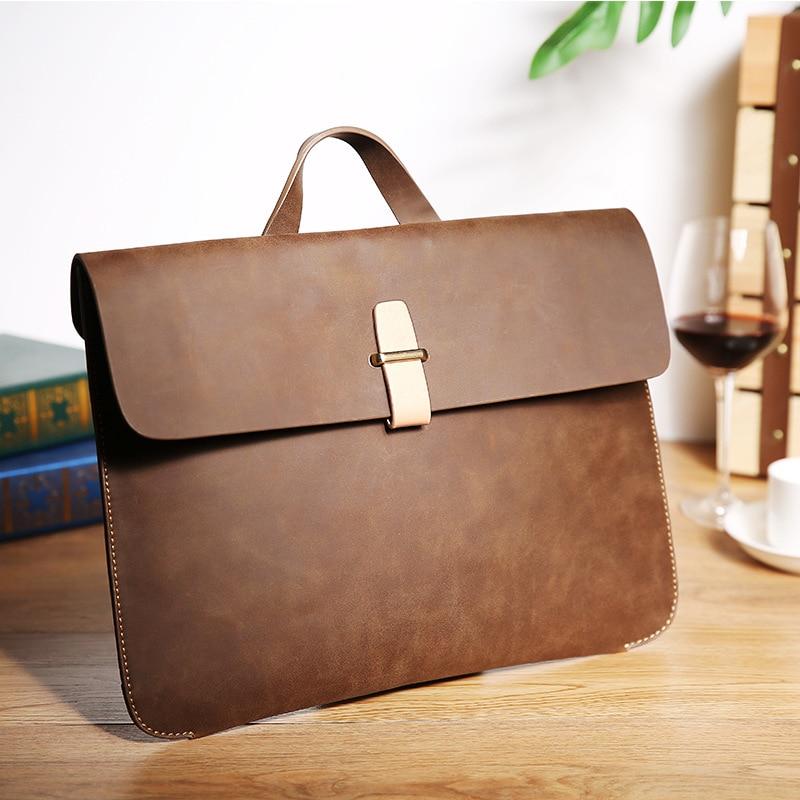 Office Bags For Men Work Bag Portafolio Bolsa Para Hombre Thin PU Leather Business Briefcase  Men Messenger Bags Cartera Trabajo