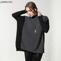 100% Merino Flat Knitted Sweaters Elegant O Neck Batwing Sleeves Irregular Loose Sweaters Famale Tees Woman Tops A101 z20