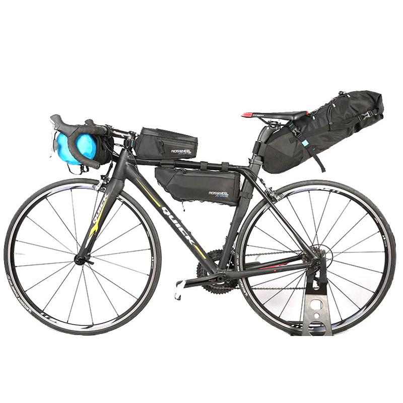 ROSWHEEL 4pcs/set  Waterproof Bike Bag Bicycle Accessories Saddle Bag Cycling Top Front Frame Tube Bag