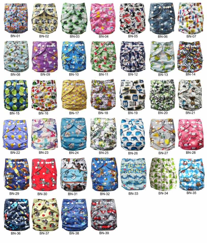 Newest Reusable Washable Pocket Baby Cloth Diaper Nappy With Microfiber Insert Free Shipping TS patterns For