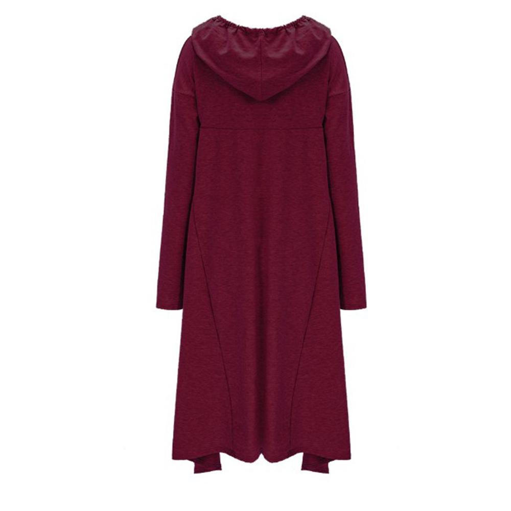 Preself Oversize Sweter Z Kapturem Bluza Kobiety Hoody Blaty Kobiet Luźna Z Długim Rękawem Płaszcz Z Kapturem Na Co Dzień Znosić Pokrywa Swetry Ubrania 8