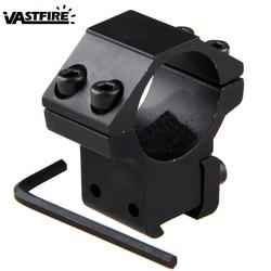 Anillo de montaje para mira telescópica de 25,4mm, Riel de cola de milano de 11mm, soporte de acero de alta presión para caza de rifle de perfil bajo
