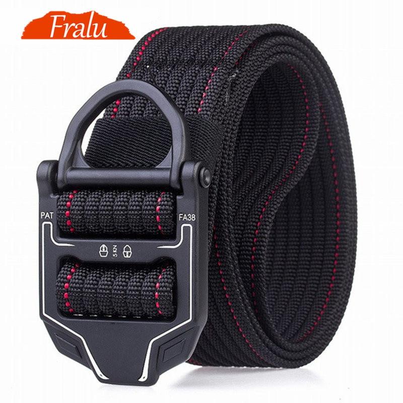 FRALU 2019 New Hot Men's Tactical Belt Military Nylon Belt Men's Outdoor Multi-functional Training Belt High Quality Men Belts