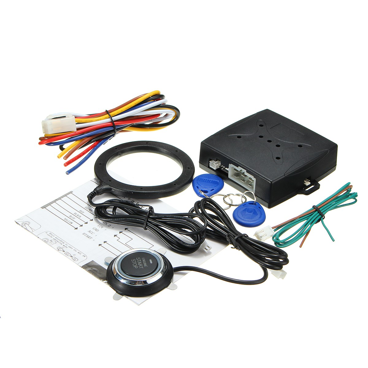 RFID START STOP Engine System Push Button Keyless Entry System With Start stop Button Car Alarm