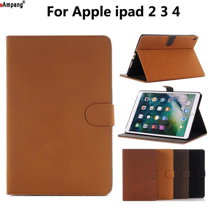 Retro Leather Case for Apple iPad 2 3 4 iPad2 iPad3 iPad4 9.7 Smart Case Cover Funda Tablet Fashion Magnet Slim Flip Stand Shell new for apple ipad 2 3 4 ipad2 ipad3 case table smart cover slim magnetic pu leather stand cases