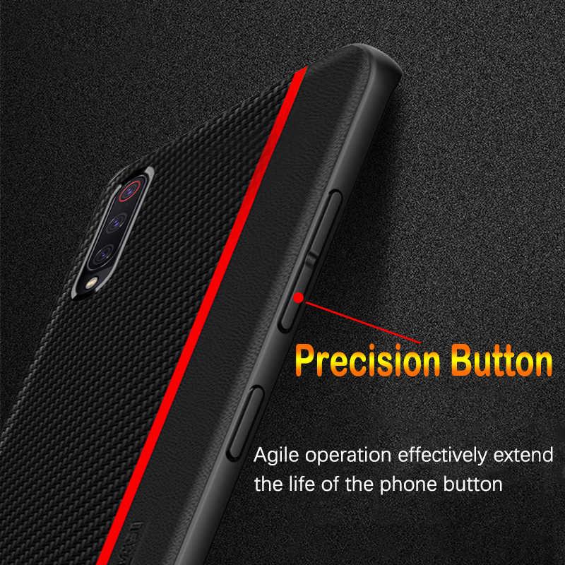 Para Samsung A50 funda Original de cuero de fibra de carbono de protección de la contraportada para Samsung Galaxy A70 A50 A30 A7 A8 Plus a9 2018