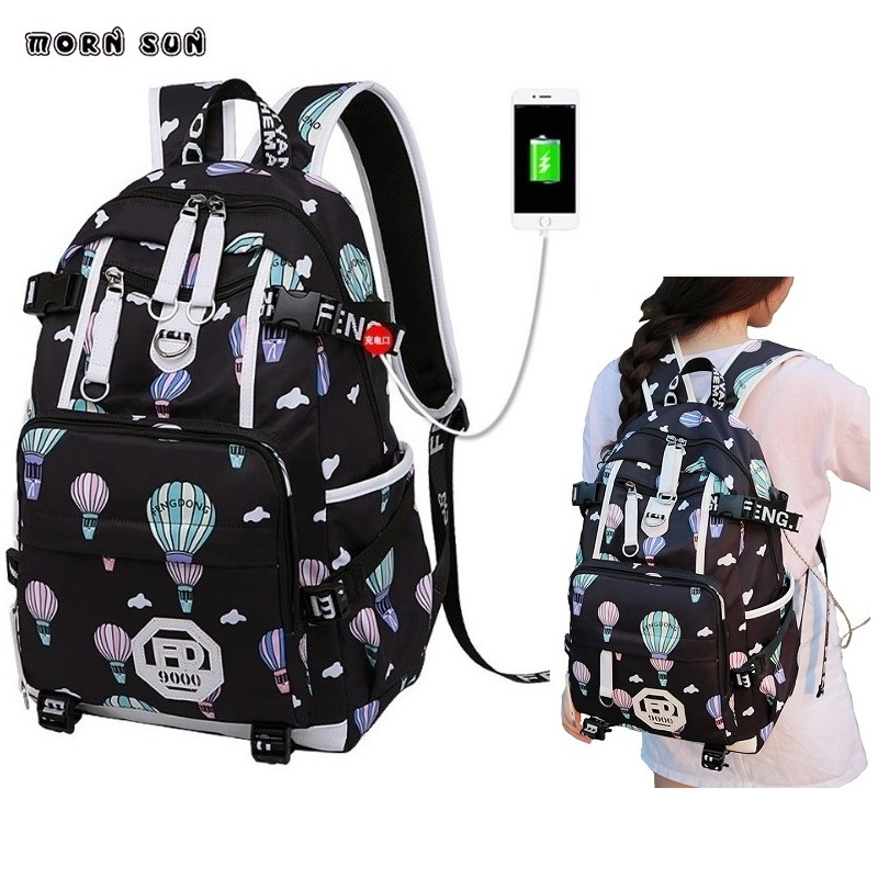 Girl Fashion School Bags Women's Waterproof Laptop Backpacks Suitable Young Girl Short-term Travel Backpack Plecaki Damskie