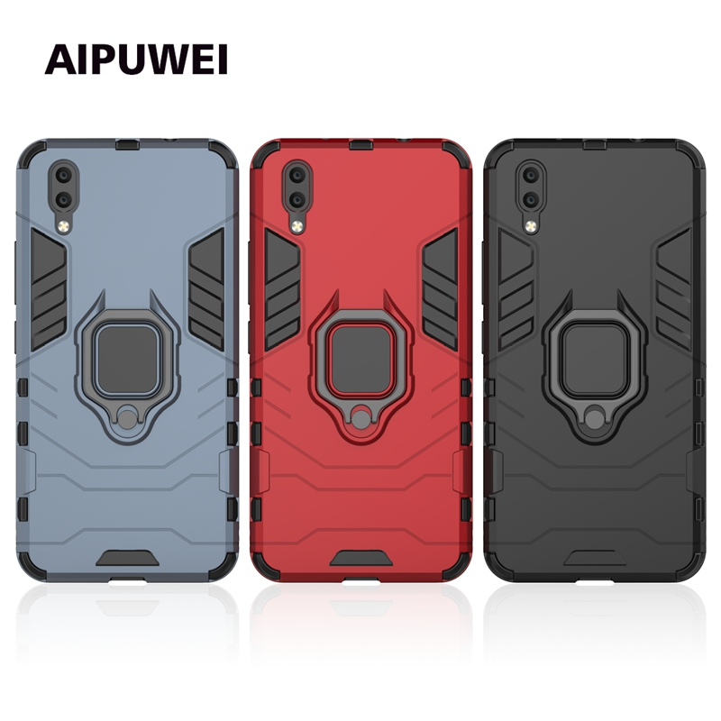 Vivo V9 case For Vivo x23 Y97 Y83 V9 X9 x20 x20i X9 PLUS x9splus phone cover case hard PC + soft silicon armor back shell ring