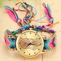 Nueva Marca Dreamcatcher Trenzada Hecha A Mano Pulsera de La Amistad Cuerda Reloj GENEVA Watch Ladies Quarzt Relojes relogio feminino 1468