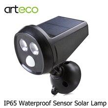 Solar Powered PIR Motion Sensor Solar Light 2LEDs IP65 Waterproof Oudoor Garden Solar Wall Lamp Spotlight Night Light