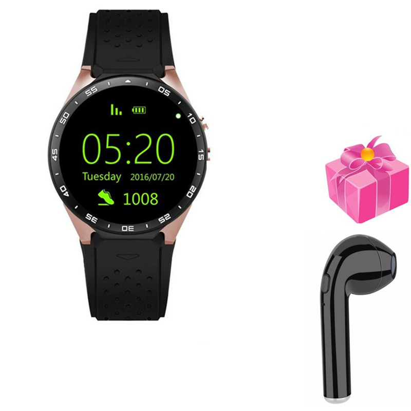 smart watch kw88 for huawei Samsung gear S3 smart electronic 2MP camera 3G smartwatch men women+free headset