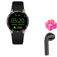 smart watch kw88 for huawei Samsung gear S3 smart electronic 2MP camera 3G smartwatch men women+free headset