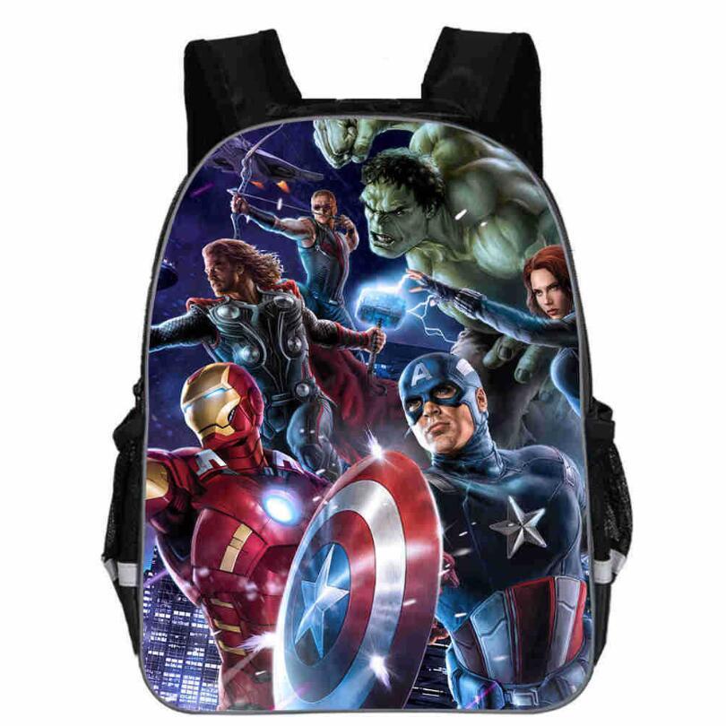 2019 11-16-inch Bag Mochilas Avengers Backpack For Teenage Boys Children School Bags Heroes Cartoon Backpack Captin America Bags