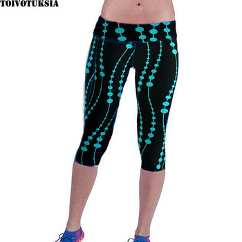 Legging Women Print Summer Style Black Pants Capris Women Leggins Female Pants Thin and Soft Mid Calf Legging 1