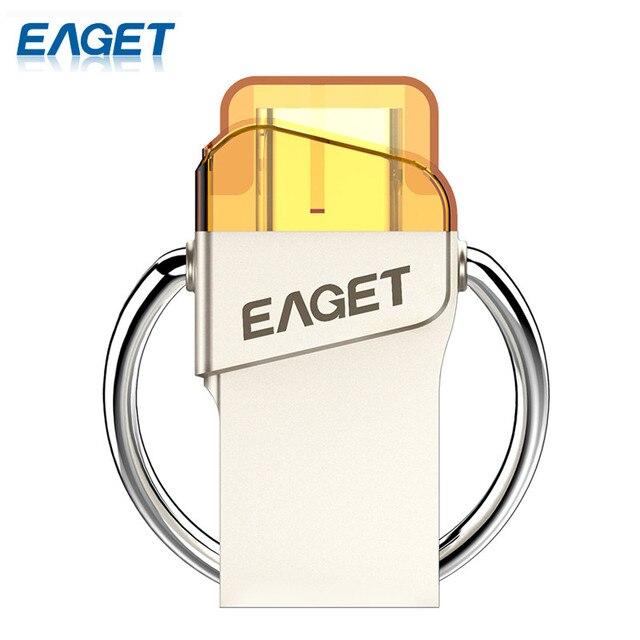 EAGET CU66 Типа С USB Флэш-Накопитель 64 ГБ 32 ГБ 16 ГБ Pendrive Мини Портативный Хранения Для Смарт-телефон Для Компьютера Для Macbook