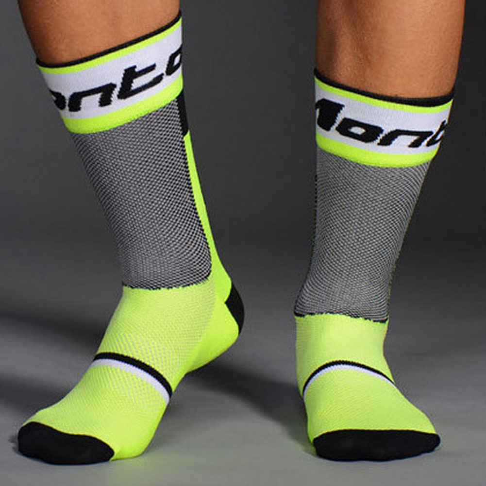 4 colors 1 Pair Pro Mens Socks Breathable Bicycle Socks