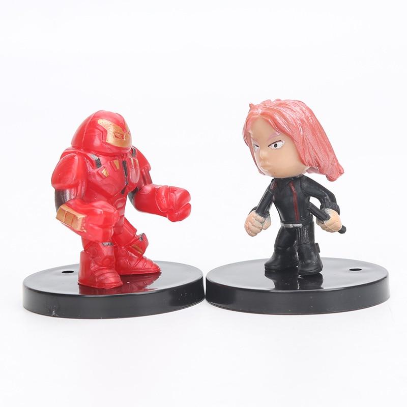 4-5 սմ 12 հատ / սահմանել Marvel Toys The Avengers Figure - Խաղային արձանիկներ - Լուսանկար 5