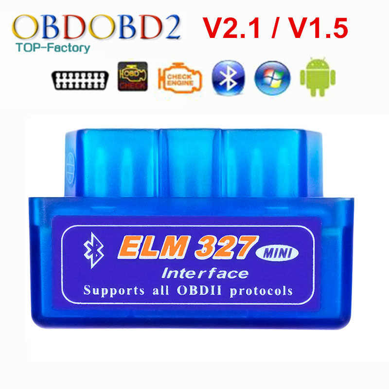 2019 Super Mini ELM327 Bluetooth V2.1/V1.5 OBD2 voiture outil de Diagnostic ELM 327 Bluetooth 4.0 pour Android/Symbian OBDII protocole