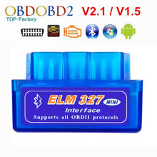 2020 Super Mini ELM327 Bluetooth V2.1 / V1.5 OBD2 Auto Strumento Diagnostico ELM 327 Bluetooth 4.0 Per Android/Symbian OBDII Protocollo(China)