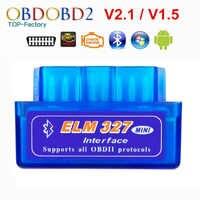 2019 Super Mini ELM327 Bluetooth V2.1/V1.5 OBD2 herramienta de diagnóstico del coche ELM 327 Bluetooth 4,0 para Android/Symbian OBDII Protocolo
