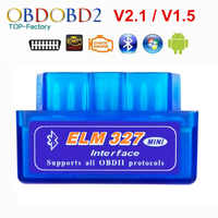 2019 Super Mini ELM327 Bluetooth V2.1/V1.5 OBD2 voiture outil de Diagnostic ELM 327 Bluetooth 4.0 pour Android/Symbian OBDII protocole