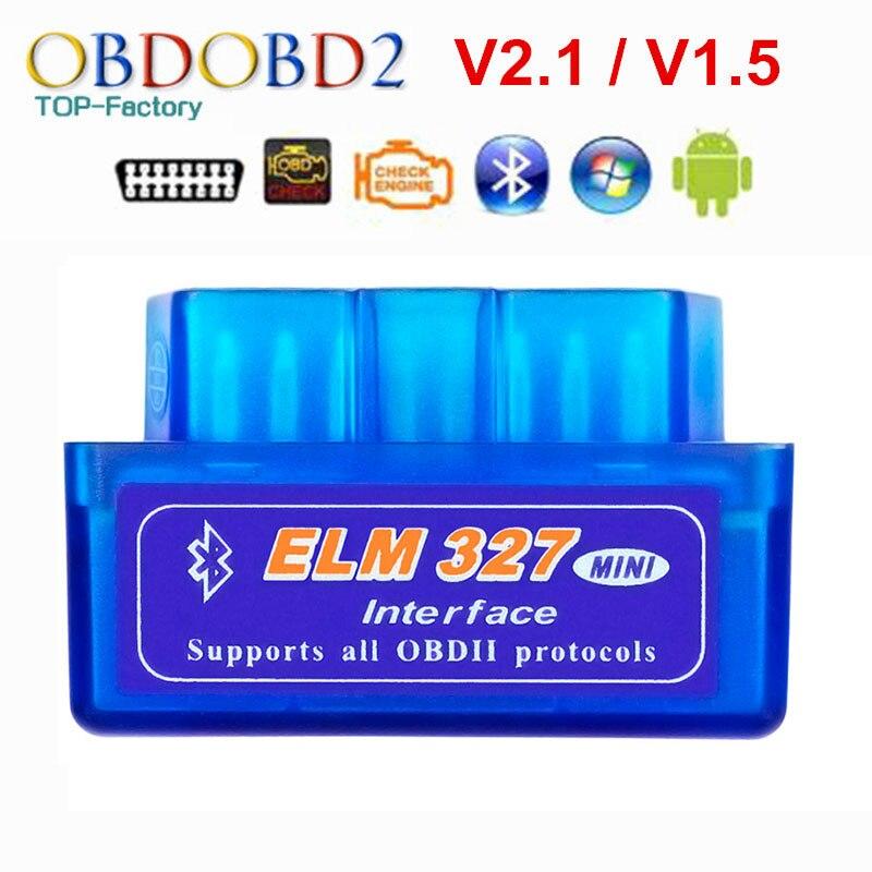2019 super mini elm327 bluetooth v2.1/v1.5 obd2 carro ferramenta de diagnóstico elm 327 bluetooth 4.0 para android/symbian obdii protocolo
