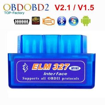 2020 Super Mini ELM327 Bluetooth V2.1 / V1.5 OBD2 Car Diagnostic Tool ELM 327 Bluetooth 4.0 For Android/Symbian OBDII Protocol
