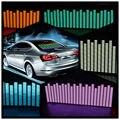 90*25 centímetros 5 Cor Etiqueta Do Carro de Música Rhythm EQ Equalizador Da Música na Brisa Do Carro LED Som Música Activado EL Folha de Cola Adesivos