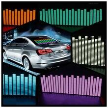 90*25 cm 5 Colour Music Rhythm EQ Car Sticker Music Equalizer on Car Windshield LED Sound Music Activated EL Sheet Glue Stickers