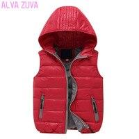 ALVA ZUVA 2017 Autumn Winter Children Outerwear Coats Brand Kids Hooded Down Jackets Boys Girls Vests