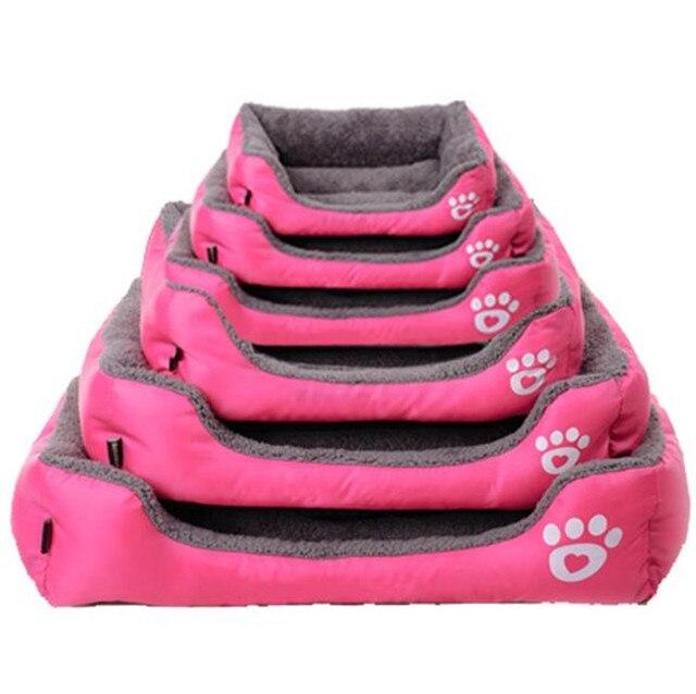 Hot 10 Colori di Grandi Dimensioni Cane Letto Imbottito Morbido Pet Nido Casa Interni Caldi Cani A Pelo Kennel Cuscino Per Cucciolo di Gatto s/M/L/XL/XXL/XXXL