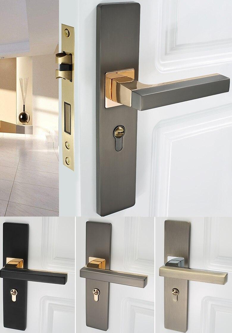 Premintehdw reversal square mortise interior door lock set - Interior door privacy mortise lock ...