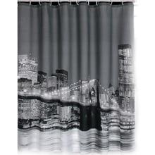 Ziemlich Stadt-nachtansicht Wasserdichte Badezimmer-gewebe Duschvorhang 88